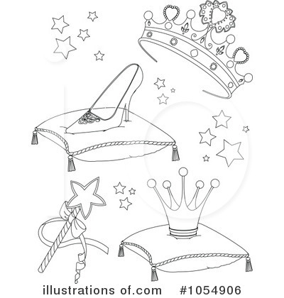 Royalty-Free (RF) Cinderella Clipart Illustration by Pushkin - Stock Sample #1054906