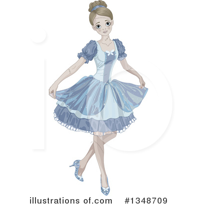 Royalty-Free (RF) Cinderella Clipart Illustration by Pushkin - Stock Sample #1348709