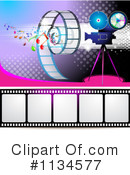 Royalty-Free (RF) Cinema Clipart Illustration #1134577