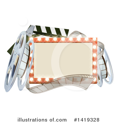 Clapper Board Clipart #1419328 by AtStockIllustration