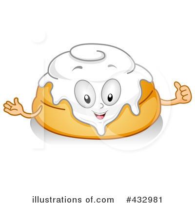 Royalty-Free (RF) Cinnamon Roll Clipart Illustration #432981 by BNP ...