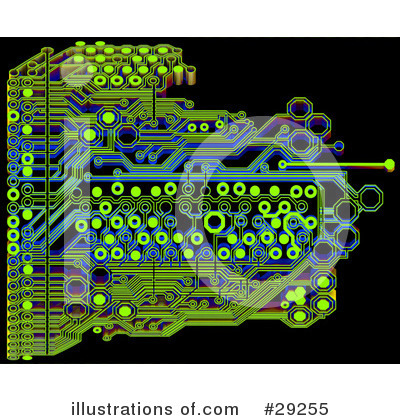 Royalty-Free (RF) Circuit Board Clipart Illustration by Tonis Pan - Stock Sample #29255