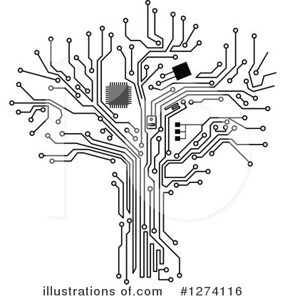 Circuits Clipart #1274116 by Vector Tradition SM