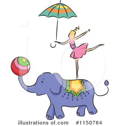 Royalty-Free (RF) Circus Act Clipart Illustration by BNP Design Studio - Stock Sample #1150764