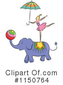 Royalty-Free (RF) Circus Act Clipart Illustration #1150764