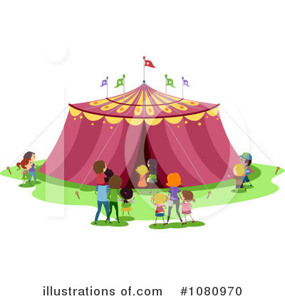 Royalty-Free (RF) Circus Clipart Illustration by BNP Design Studio - Stock Sample #1080970