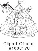 Royalty-Free (RF) Circus Clipart Illustration #1088178