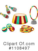 Royalty-Free (RF) Circus Clipart Illustration #1108497