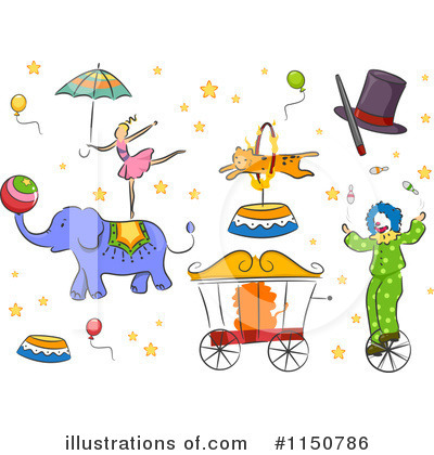 Circus Act Clipart #1150786 by BNP Design Studio