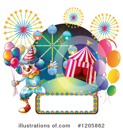 Clown Clipart #1205862 by Graphics RF