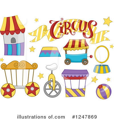 Circus Clipart #1247869 by BNP Design Studio