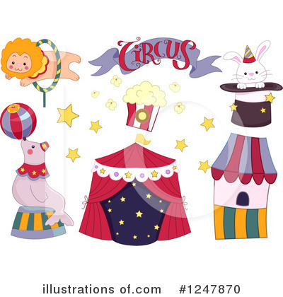 Circus Clipart #1247870 by BNP Design Studio