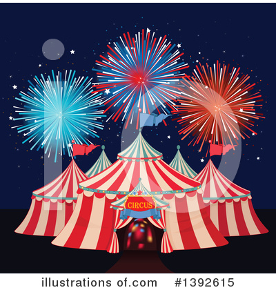 Fireworks Clipart #1392615 by Pushkin