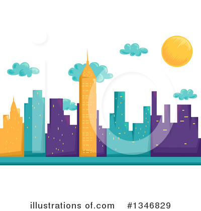 Skyscraper Clipart #1346829 by BNP Design Studio