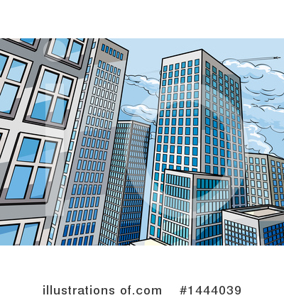 Skyscraper Clipart #1444039 by AtStockIllustration