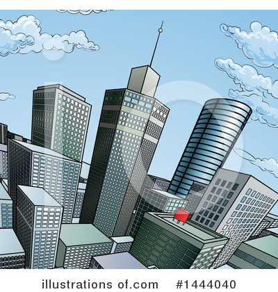 Skyscraper Clipart #1444040 by AtStockIllustration