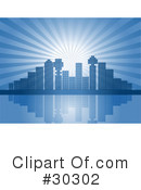 Royalty-Free (RF) City Clipart Illustration #30302