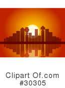 Royalty-Free (RF) City Clipart Illustration #30305