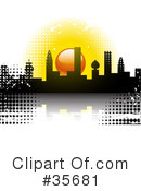 Royalty-Free (RF) City Clipart Illustration #35681