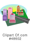 Royalty-Free (RF) City Clipart Illustration #48602