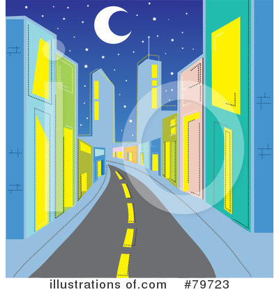 Royalty-Free (RF) City Clipart Illustration by Rosie Piter - Stock Sample #79723