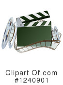 Royalty-Free (RF) Clapper Board Clipart Illustration #1240901