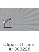 Clapperboard Clipart #1303228 by patrimonio