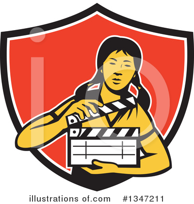 Royalty-Free (RF) Clapperboard Clipart Illustration by patrimonio - Stock Sample #1347211