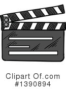 Clapperboard Clipart #1390894 by Vector Tradition SM