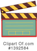 Clapperboard Clipart #1392584 by BNP Design Studio