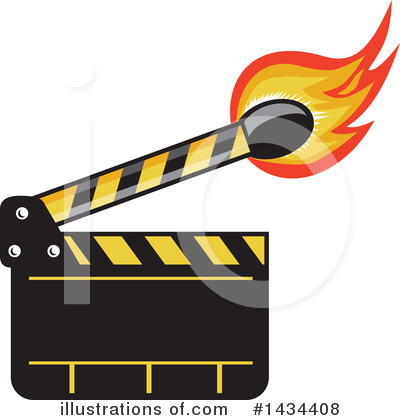 Clapperboard Clipart #1434408 by patrimonio