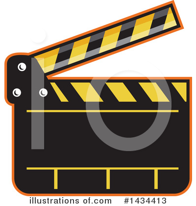 Clapperboard Clipart #1434413 by patrimonio