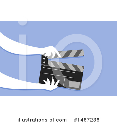 Clapperboard Clipart #1467236 by BNP Design Studio