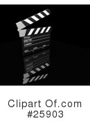 Royalty-Free (RF) Clapperboard Clipart Illustration #25903