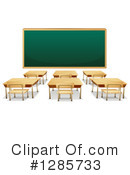 Royalty-Free (RF) Class Room Clipart Illustration #1285733