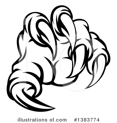 Claw Clipart #1383774 by AtStockIllustration