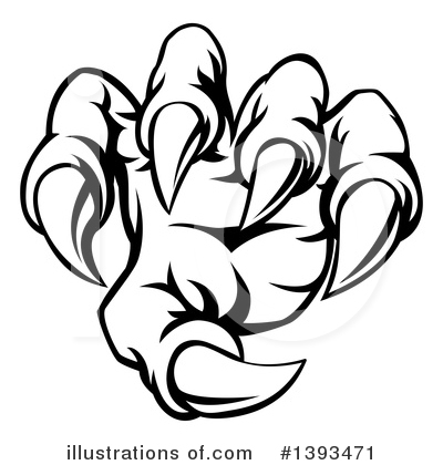 Claw Clipart #1393471 by AtStockIllustration