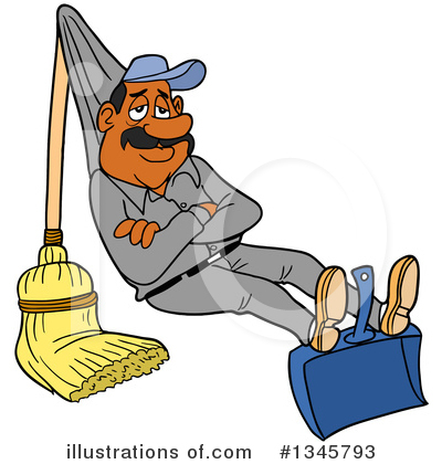 Royalty-Free (RF) Cleaning Clipart Illustration by LaffToon - Stock Sample #1345793