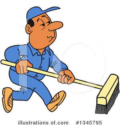 Cleaning Clipart #1345795 by LaffToon
