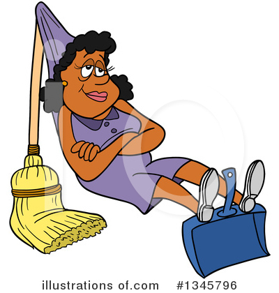 Spring Cleaning Clipart #1345796 by LaffToon