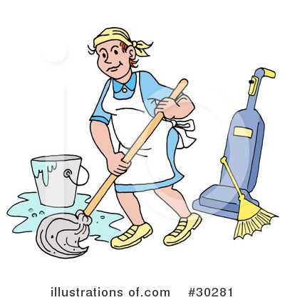 Cleaning Clipart #30281 by LaffToon