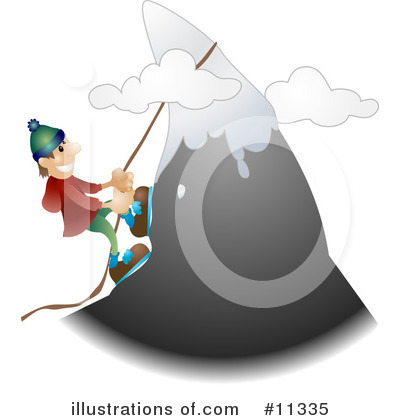 Mountain Climbing Clipart #11335 by AtStockIllustration