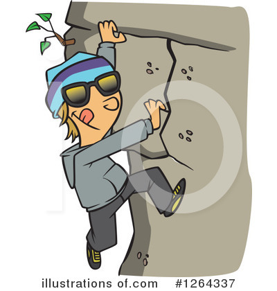 Climbing Clipart #1264337 by toonaday