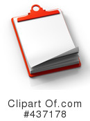 Royalty-Free (RF) Clipboard Clipart Illustration #437178