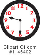 Royalty-Free (RF) Clock Clipart Illustration #1146402