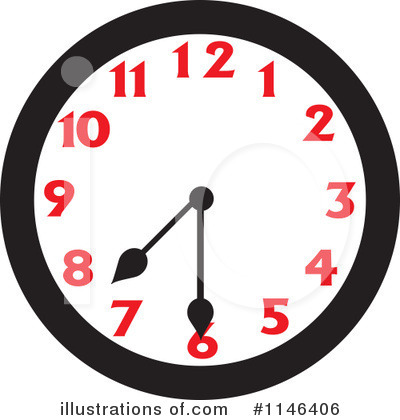 Clock Clipart #1146406 by Johnny Sajem