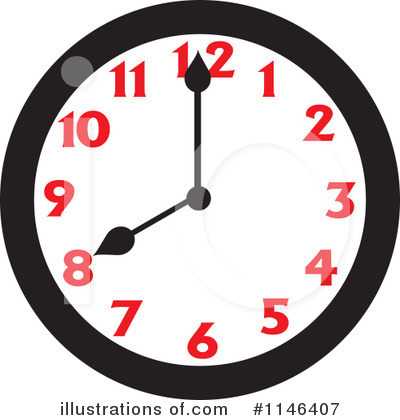 Clock Clipart #1146407 by Johnny Sajem
