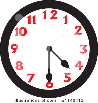 Clock Clipart #1146413 by Johnny Sajem