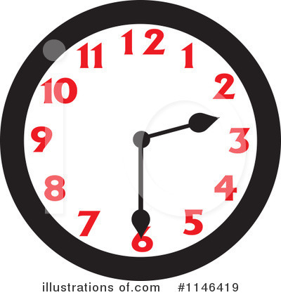 Royalty-Free (RF) Clock Clipart Illustration by Johnny Sajem - Stock ...