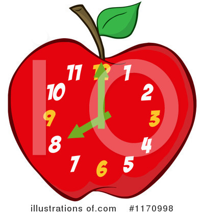 Employee time clock clipart
